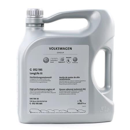 Оригинално масло G 052 195M 4 5W30 за Ауди Сеат Шкода - 5 литра