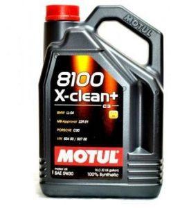 МАСЛО MOTUL 8100 X-clean+ 5W-30 - 5 литра