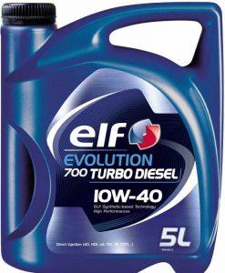 Масло за дизел ELF EVOLUTION 700TD 10W40 - 5 литра