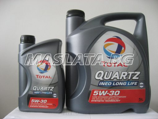 МАСЛО TOTAL QUARTZ INEO LONG LIFE 5W-30
