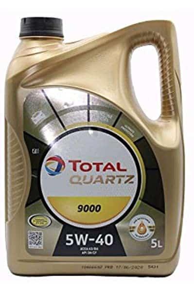 Масло TOTAL Quartz 9000 5w40 - 5 литра