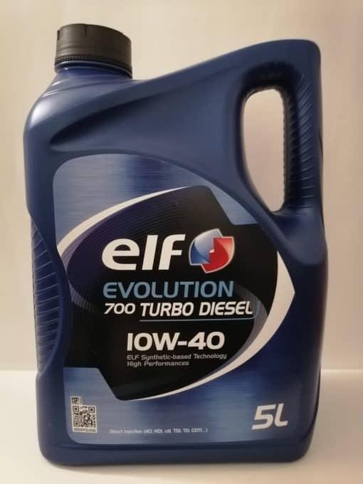 Масло за дизел ELF EVOLUTION 700TD 10W40 – 5 литра