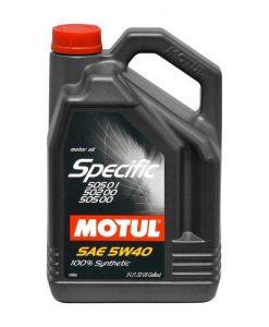 Масло MOTUL Specific 505 01/502 00/505 00 5W40 - 5 литра