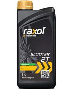 Масло за скутер RAXOL 2T двутактово червено - 1 литър