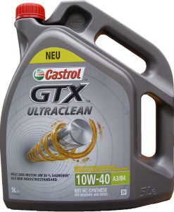 Масло CASTROL GTX ULTRACLEAN 10W40 - 5 литра
