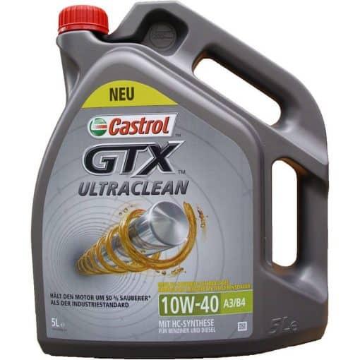 Масло CASTROL GTX ULTRACLEAN 10W40 - 5 литра