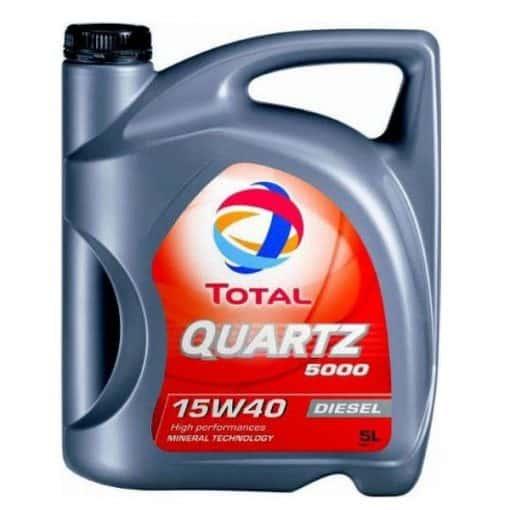 Масло TOTAL QUARTZ 5000 15W40 - 5 литра