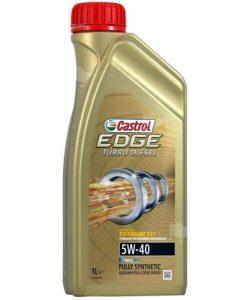 Масло Castrol Edge Titanium FST Turbo Diesel 5w40 - 1 литър