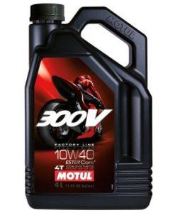 Масло MOTUL 300V Factory Line Road Racing 10W40 - 4 литра
