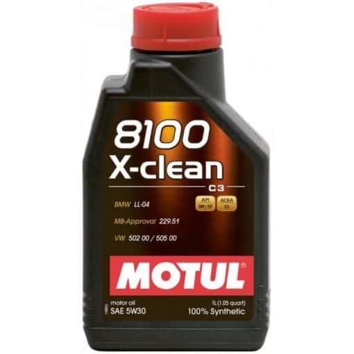 Масло MOTUL 8100 X-CLEAN 5W30 - 1 литър