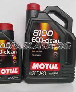 Масло MOTUL 5W30 8100 Eco-clean - 1 литър