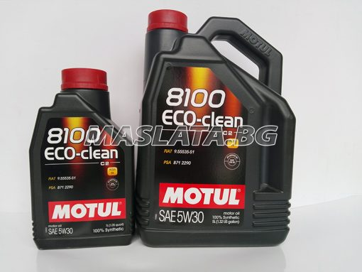 Масло MOTUL 5W30 8100 Eco-clean - 1 литър