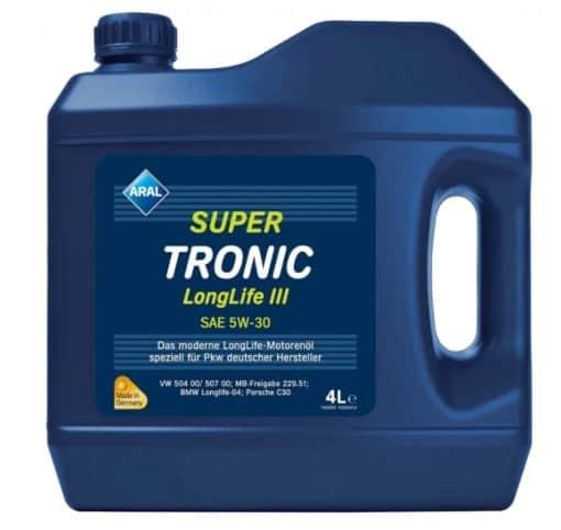 Масло Aral Super Tronic Longlife III 5w30 - 4 литра