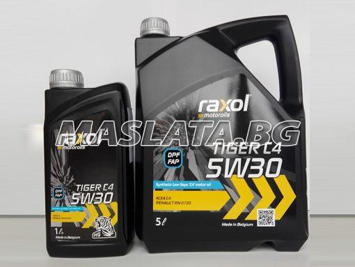МАСЛО ЗА РЕНО 5W-30 RAXOL TIGER C4 DPF/FAP