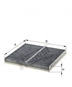 Купе филтър с активен въглен HENGST E2933LC