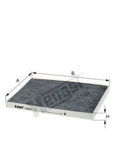 Купе филтър с активен въглен HENGST E2939LC