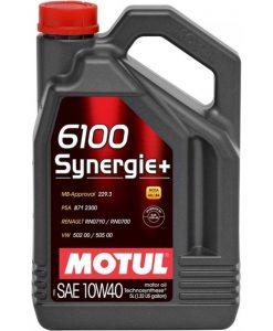 Масло MOTUL 6100 Synergie+ 10W40 5 литра