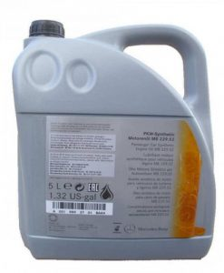 Оригинално масло MERCEDES 229.52 5w30 - 5 литра