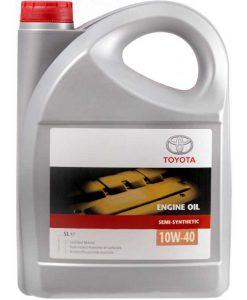 Оригинално масло Toyota 10W40 Semi Synthetic - 5 литра
