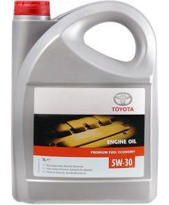 Оригинално масло TOYOTA 5W30 PREMIUM FUEL EKONOMY – 5 литра