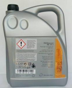 5w40 оригинално масло MERCEDES 229.3