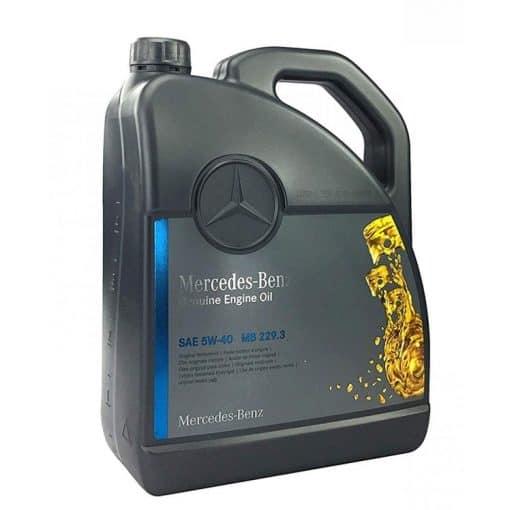 Оригинално масло MERCEDES 229.3 5w40 - 5 литра A 000 989 91 02 13