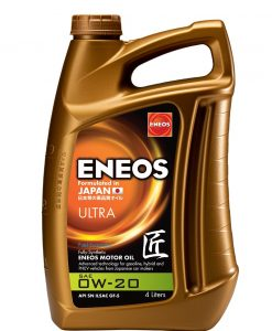 Масло ENEOS PREMIUM ULTRA 0W20 4L
