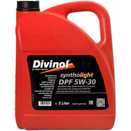 Двигателно масло DIVINOL SYNTHOLIGHT DPF 5W30 5L