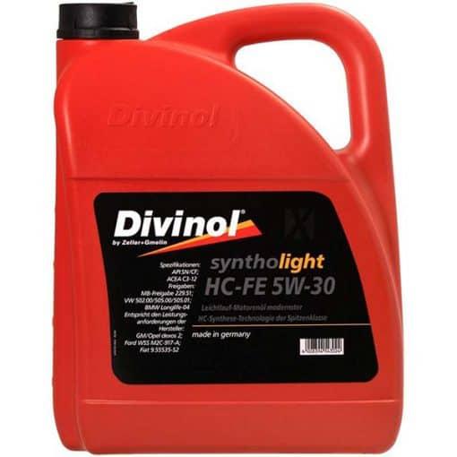 Двигателно масло DIVINOL SYNTHOLIGHT HC FE 5W30 5L