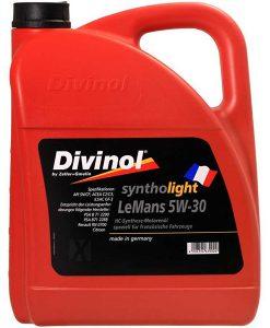 Двигателно масло DIVINOL SYNTHOLIGHT LEMANS 5W30 5L