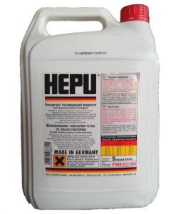 Антифриз Hepu G12 червен концентрат – 80C - 5 Литра
