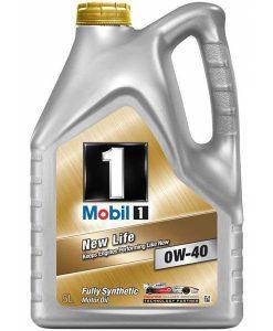 Двигателно масло MOBIL 1 NEW LIFE 0W40 5L