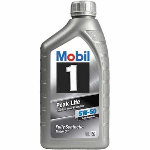 Двигателно масло MOBIL 1 PEAK LIFE 5W50 1L