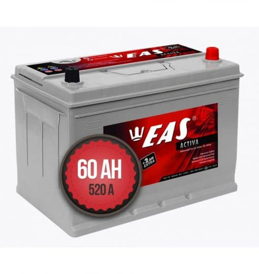 Акумулатор EAS Activa Asia +2Ah EXTRA 60Ah 520a 12V L+