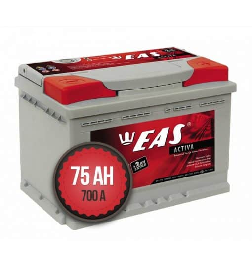 Акумулатор EAS Activa +2Ah EXTRA 75Ah 700a 12V R+