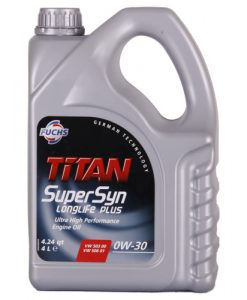 Двигателно масло FUCHS TITAN SUPERSYN LONGLIFE PLUS 0W30 4L