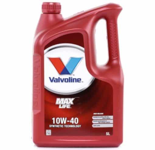 Масло VALVOLINE MAXLIFE 10W40 5L