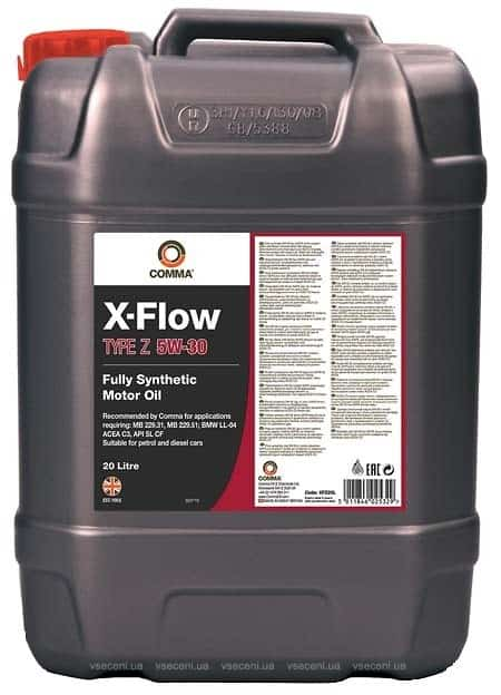 Масло COMMA X-FLOW TYPE Z 5W30 20L