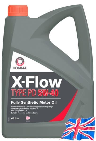 Масло COMMA X-FLOW TYPE PD 5W40 4L