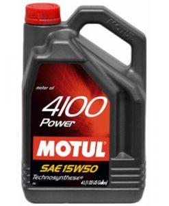 Масло MOTUL 4100 POWER 15W50 - 4L
