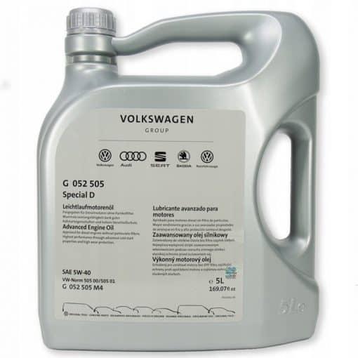 Оригинално масло за Audi G 052 505 SPECIAL D 5W40 5L