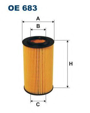 Маслен филтър (OE683 - FILTRON)