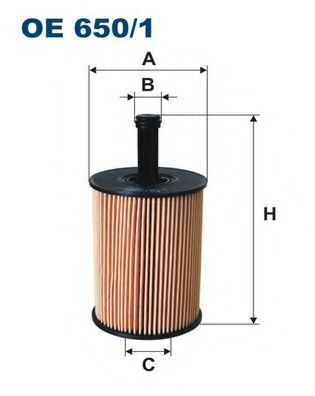 Маслен филтър (OE 650/1 - FILTRON)