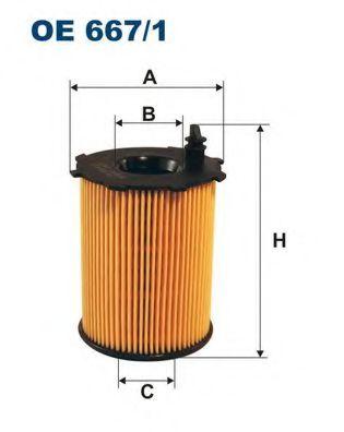 Маслен филтър (OE 667/1 - FILTRON)