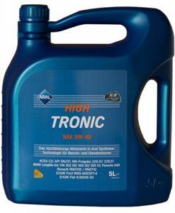 Масло Aral Hight Tronic 5w40 NEU - 5 литра