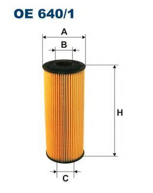 Маслен филтър (OE 640/1 - FILTRON)