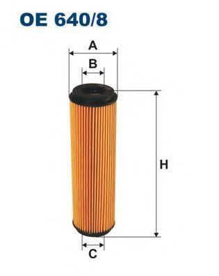 Маслен филтър (OE 640/8 - FILTRON)