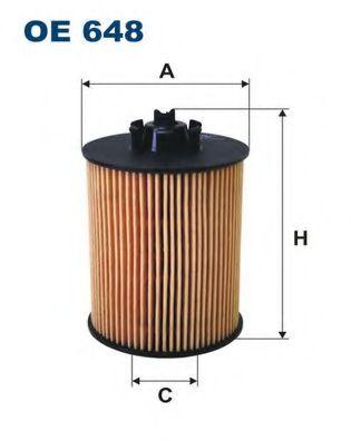 Маслен филтър (OE 648 - FILTRON)