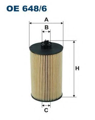 Маслен филтър (OE 648/6 - FILTRON)