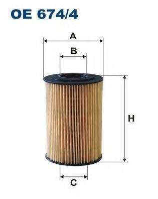 Маслен филтър (OE 674/4 - FILTRON)